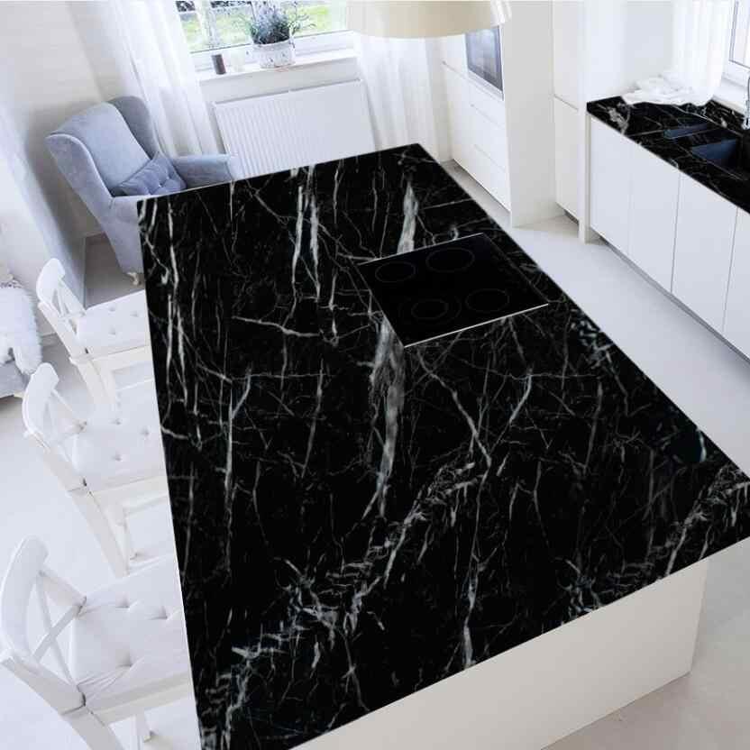 Modern Fashion Black White Marble Wallpaper Self Adhesive Living