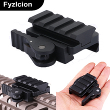 Tactical QD Quick Release AR-15 M16 Red Dot Riser  Mount Adapter 4 slots fit 20mm Picatinny Weaver Rail Base