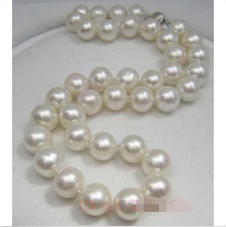 """New huge 36/""""10-11MM SOUTH SEA WHITE PEARL NECKLACE AAAA+0088"""