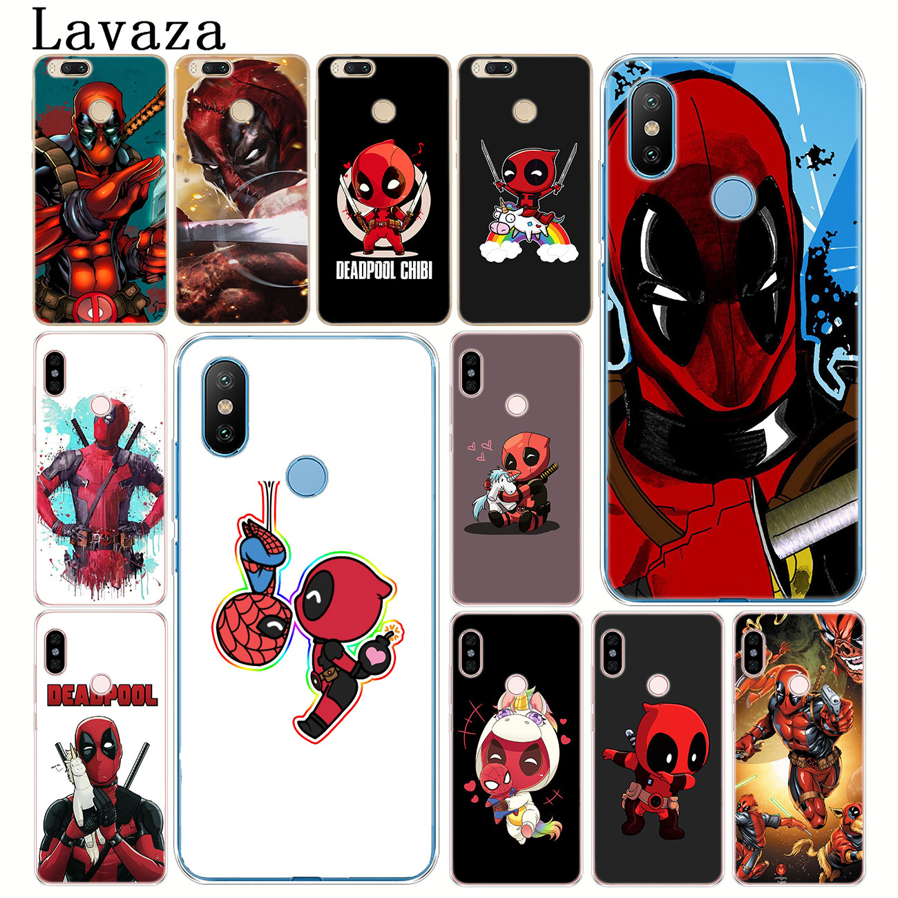 Lavaza <font><b>Marvel</b></font> Comics Deadpool Hard Phone Shell <font><b>Case</b></font> for <font><b>Xiaomi</b></font> <font><b>Redmi</b></font> 8A 7A 6A 5A 4A K20 <font><b>Note</b></font> 8 7 5 6 Pro <font><b>4</b></font> 4X Cover image