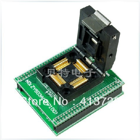 SmartPRO ZY503A X5/X8 private QFP100 adapter block transfer test burn, original plcc44 to dip40 block adapter block cnv plcc mpu51 test convert burn