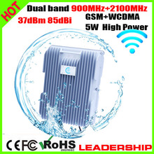 Dual band GSM+WCDMA 3G W-CDMA 900mhz 2100mhz 5Watts 85dbi cellular mobile/cell phone signal repeater booster amplifier detector