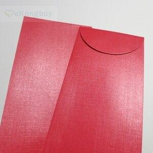 """Image 5 - 50pcs 172x90mm(3.7 """"x 3.5"""") 셀프 인감 빨간색 봉투 반짝이 선물 봉투"""