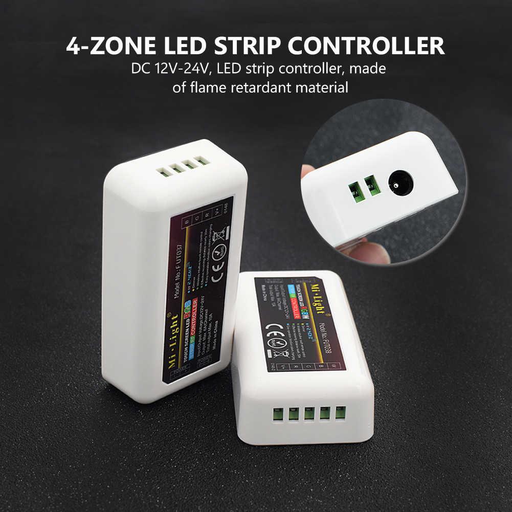 TSLEEN 2.4G sans fil mi-lumière RF à distance 4 zones WiFi RGBW RGB LED bande écran tactile ampoule Downlight contrôleur gradateur DC 12 V-24 V