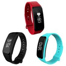 Сенсорный экран Bluetooth BT4.0 Смарт Браслет Спорт Водонепроницаемый Смарт-часы Поддержка сердечного ритма Мониторы шагомер Фитнес трекер