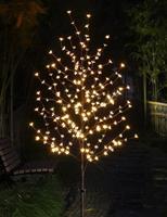 HUSUYUHU 1.5M Cherry Blossom Light Tree Trunk Landscape Warm White Wedding Luminaria Outdoor Lighting Lamp New Year Waterproof