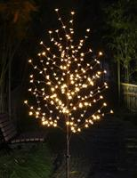 HUSUYUHU 1.5M Cherry Blossom Light Tree Trunk Landscape Warm White Wedding Luminaria Outdoor Lighting Lamp New Year Waterproof
