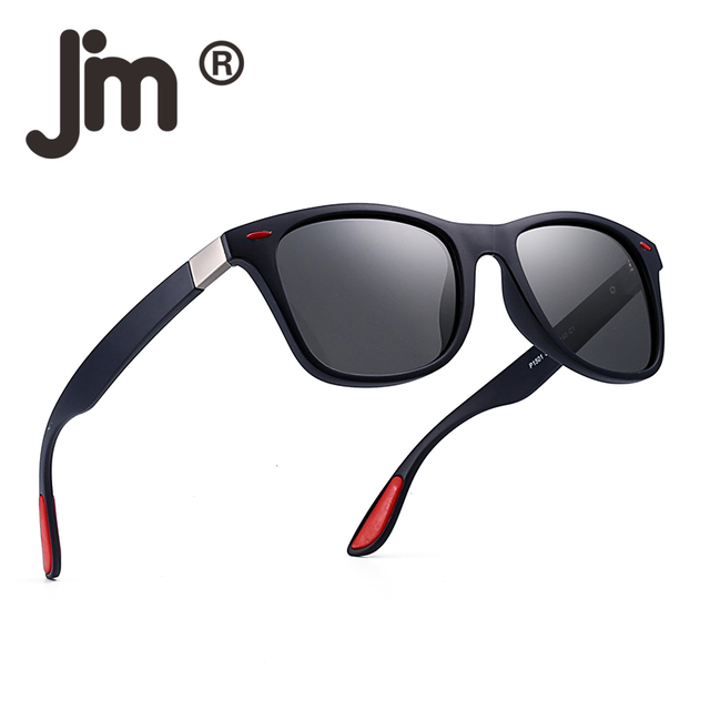 560a7a3b92 JM Polarized Sunglasses Vintage Square Horn Rimmed Driving Sun Glasses Men  Women