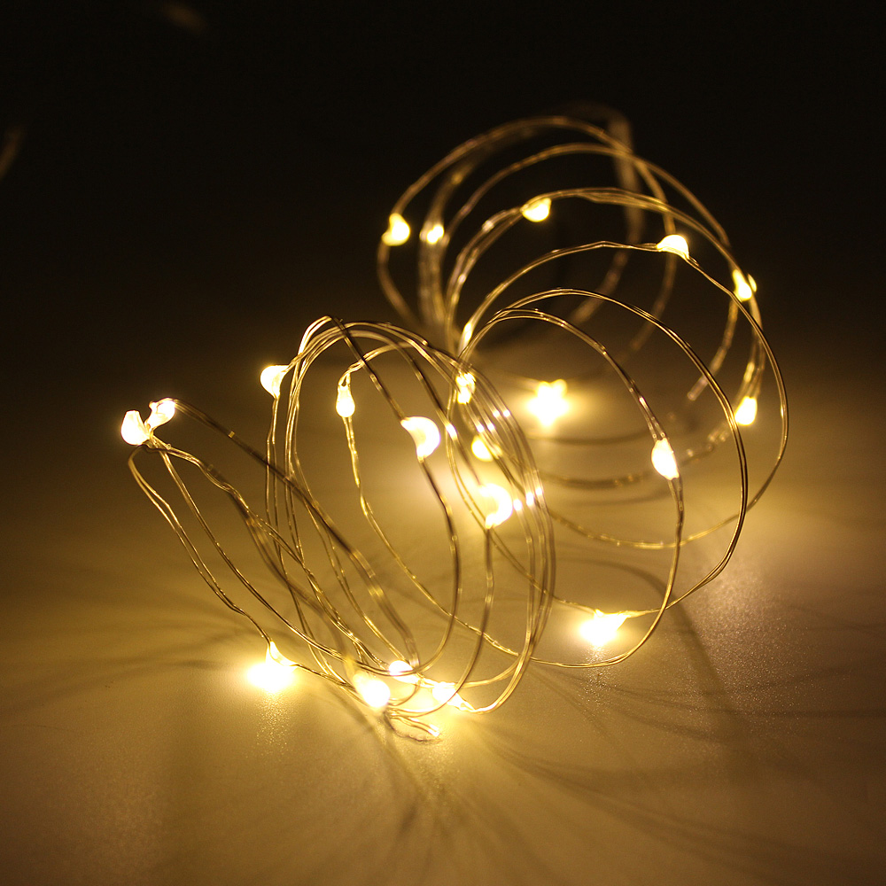 USB Powered LED String Lights 2M 3M 5M 10M Copper Silver Wire Fairy Garland For New Year Christmas Wedding Home Decoration