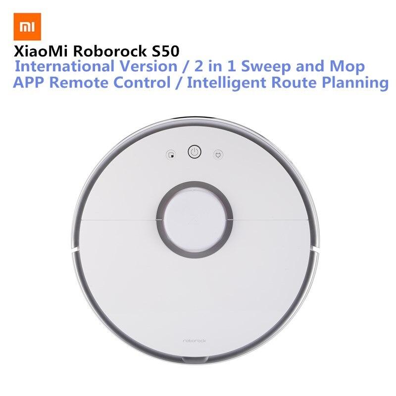 Оригинальный Xiaomi Roborock S50 умный пылесос Ми робот интеллектуальный датчик LDS планированию маршрутов Mijia APP дистанционного управления 2000 Pa