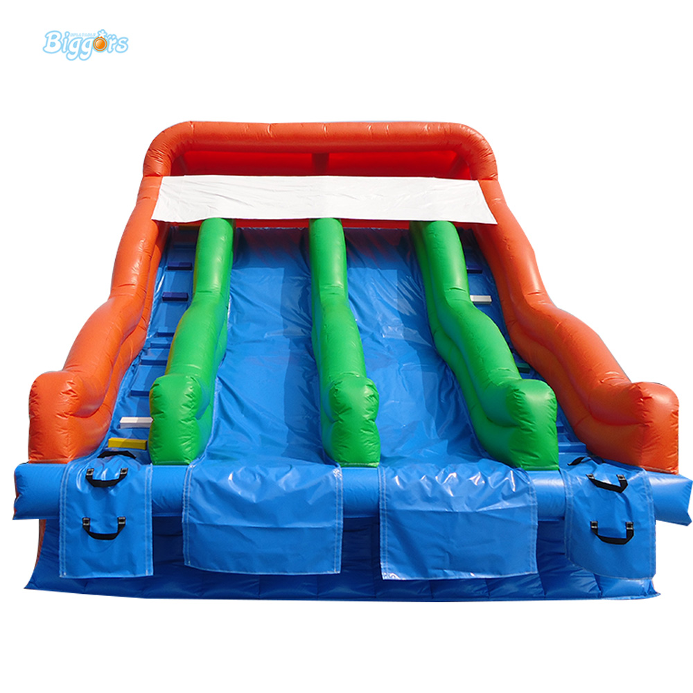 Commercial PVC Inflatable Pool Slide Double Lane Water Slide Karting Pool For Sale commercial inflatable water slide with pool made of pvc tarpaulin from guangzhou inflatable manufacturer