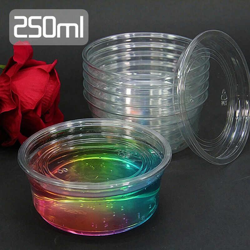 250ML DIY juguetes plastilina barro conjunto Baba contenedor caja para Lizun la arcilla del polímero suave paquete arena accesorios para manualidades niños