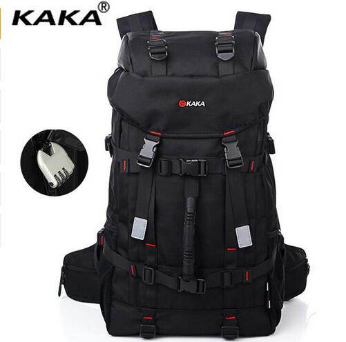 цена KAKA Large capacity 55L Travel Backpack bag for Men's Backpack Men Bag Luggage Shoulder Bag Water Proof Notebook Travel back Bag