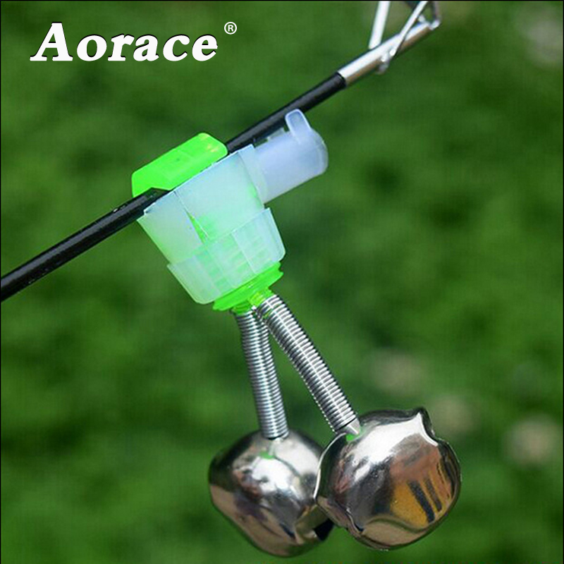 5pcs/lot Carp Fishing Bite Alarm Fishing Rod Clamp Tip Clip Spiral Bells Ring Fishing Bell Alarm Fishing Accessories