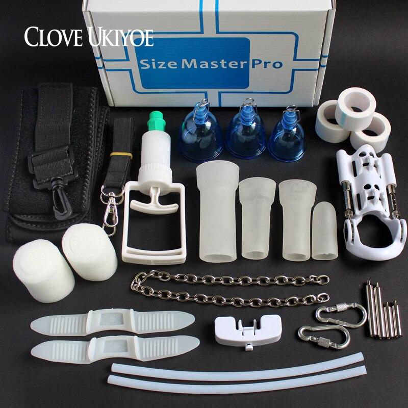 Excellent kit Pénis Élargissement Système Taille Maître MAX Pro Extender Confort vide Bouchon accroché Double Protection Phallosan Pompe Jouets