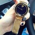 Высокое Качество Нового Прибытия 316L Сетка Из Нержавеющей Стали Пояса Часы Золотые женские Часы Для Женщин Оптовой Продажи Фабрики Часы reloj mujer