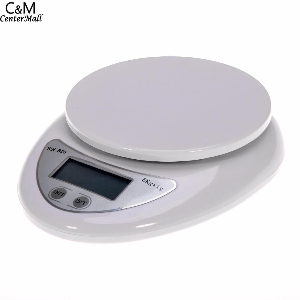 Escalas Postal LCD portátil escala 5 kg balanza Digital electrónica Libra Cocina Comida romana peso escalas de medición