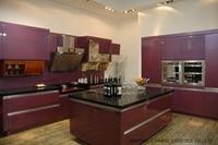 High gloss/lacquer kitchen cabinet mordern(LH LA016)