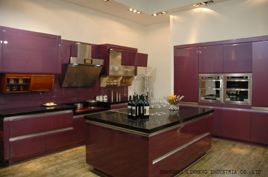 High Gloss/lacquer Kitchen Cabinet Mordern(LH-LA016)