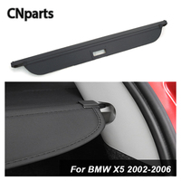 CNparts Car Rear Trunk Cargo Cover For BMW X5 E53 2002 2006 Car Styling Black Security Shield Shade Auto accessories
