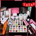 Pro 9W Pink UV Lamp Dryer Acrylic Powder Decoration UV Gel Nail Art Tool Kit Set #231