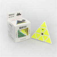 MoYu Magnetic Pyramid Triangle Pyraminx Strange Shape Magic Cube 98mm Black White Color Puzzle Cube Educational