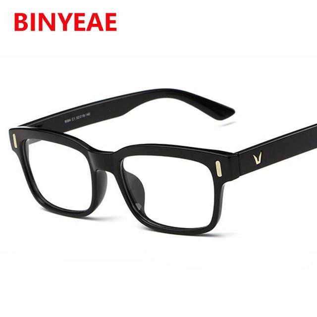 81f67d8b7c5f8 V dos homens armação dos óculos quadrados quadro óculos simples retro  Acetato de óculos sem grau