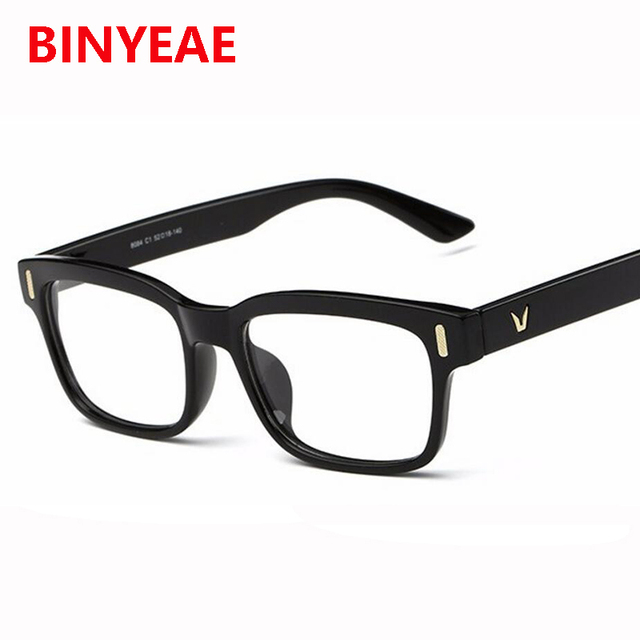 984eec21de9 V men s eyeglass frame square spectacles frame plain retro glasses Acetate  no degree eyeglasses womens decorative