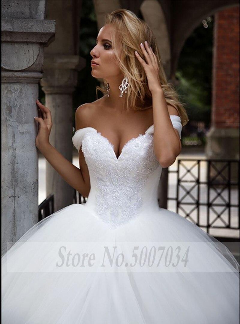 Smileven Wedding Dress Ball Gowns Sweetheart Bride Dresses vestidos de novia Off The Shoulder Wedding Bridal Ball Gowns 2019 in Wedding Dresses from Weddings Events