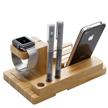 Flexible Natural Bamboo Smartphone Stand