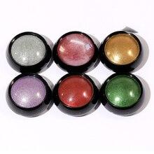 все цены на 0.5g/BOX Mirror Nail Art Glitters UV Gel Nail Polish Powder 7Colors Metallic Nail Pigment Manicure Nail Art Chrome Dust Powder