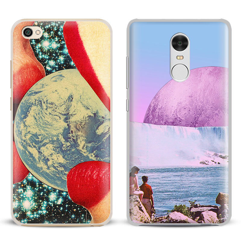 Trippy Art aesthetic Coque Phone Case Shell Cover For Xiaomi Redmi Note 2 3 4 4X 5A Pro Mi 4 5 5S Plus 5X 6 MiA1 Minote 2 3 ...
