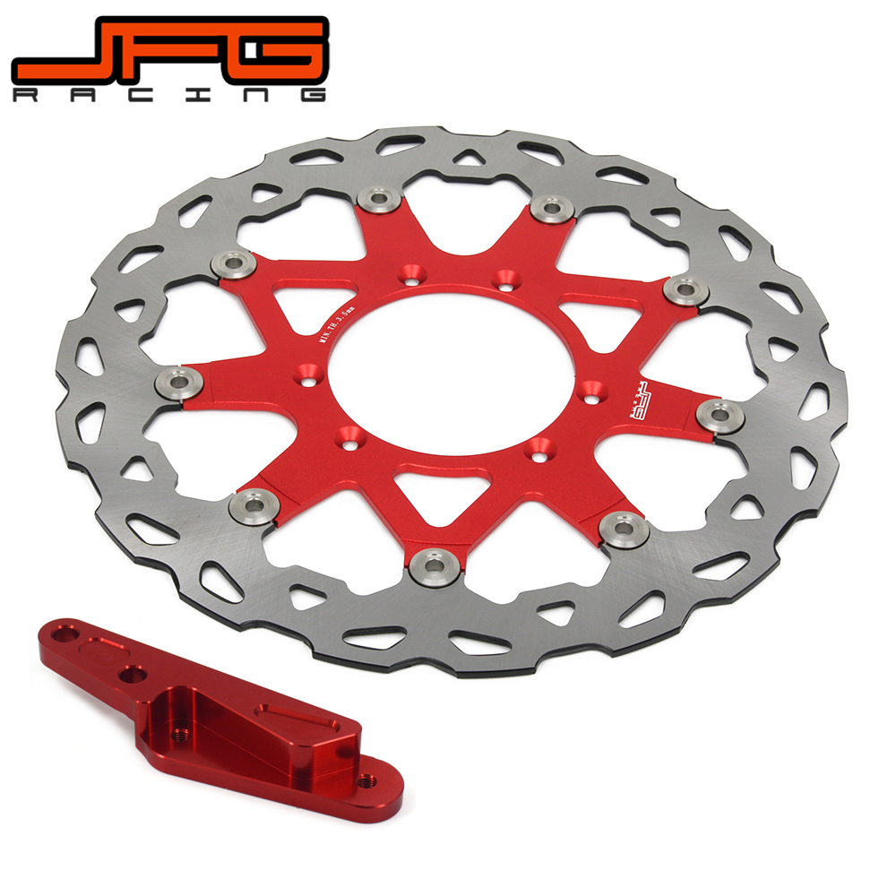 320MM Floating brake disc with bracket For CRF250X CRF250R CR250R CRF450R CRF450X CR125 Motorcycle Pit Bike cnc offroad mx clutch brake levers for honda cr125r 04 07 cr250r crf250r 04 06 crf450r 04 06 crf250x 04 16 crf450x 05 16