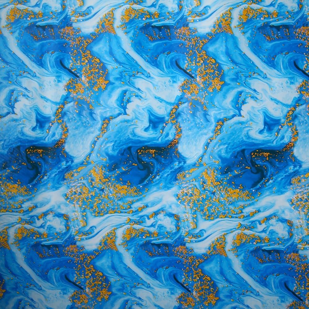 Blue PVA Water Transfer Film Hydrographic Hydro Dipping Dip Printing 50*100cm