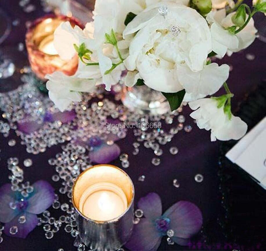 1000 шт 4,5 мм/6 мм/8 мм/10 мм Свадебные центральные вечерние украшения алмазные конфетти Разбрасыватели конфетти для Стола Акриловые Кристаллы серебро