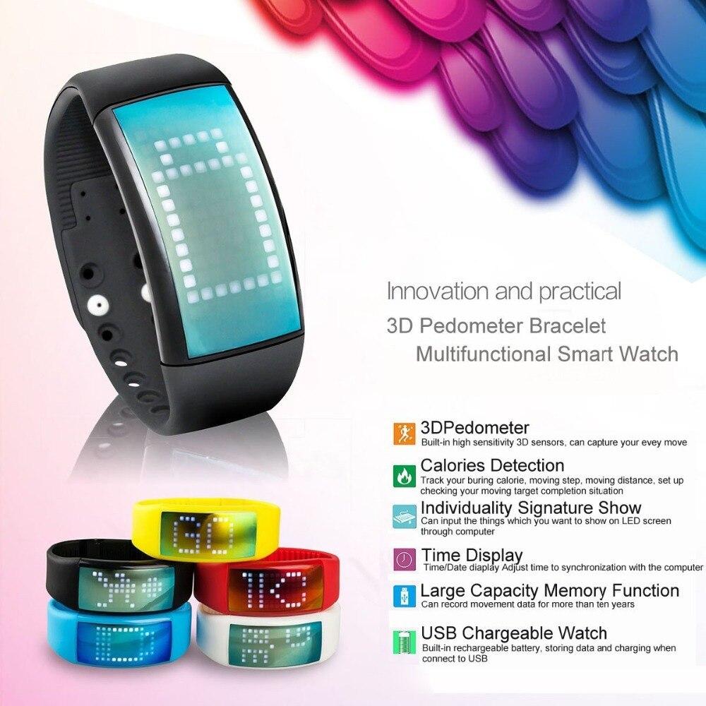 imágenes para Propietario de tiempo W4 Firma Inteligente de Pulsera Pulsera de La Salud de Carga USB Los Deportes de tiempo Reloj Inteligente con 8G de Memoria Táctil Reloj Inteligente banda