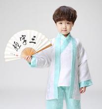 Children's hanfu  Costume Stage costume stage performance ancient costume (Vest + jacket + pants)