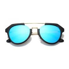 Metade do Quadro Irregular Quadro Óculos De Sol Dos Homens de Plástico E de  Metal Verão aa4d2b5bb7