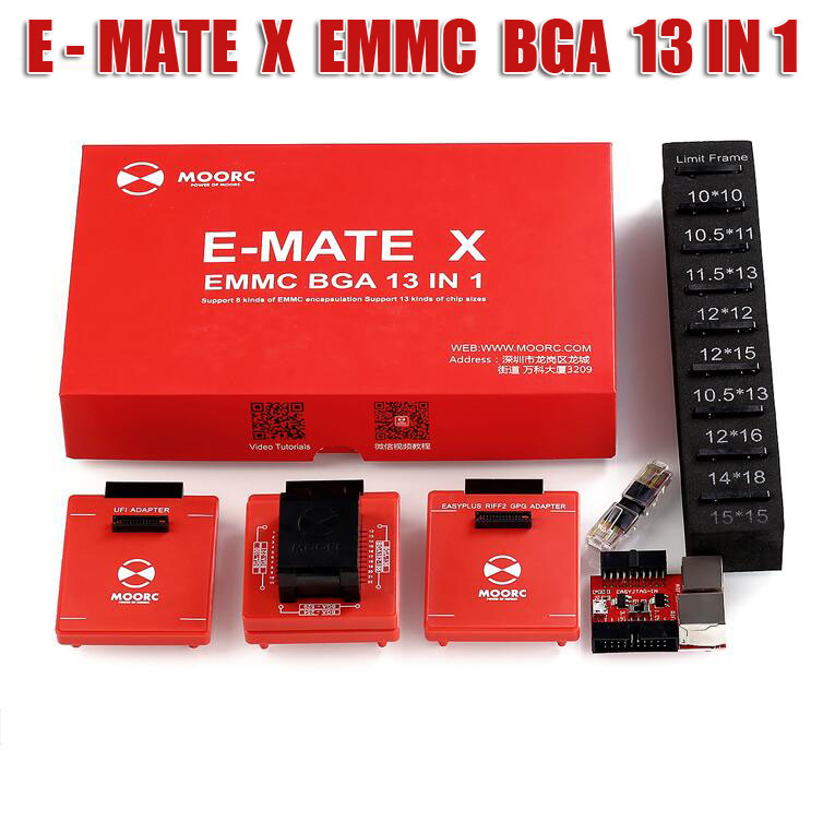 MOORC <font><b>E</b></font> <font><b>MATE</b></font> X EMMC EMATE BGA 13 IN 1 for riff easy jtag plus ufi medusa pro and emmc atf <font><b>box</b></font> image