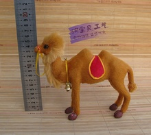 small new simulation camel toy cute resin and fur camel doll gift about 19x5x16cm