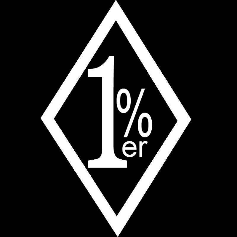 9.6x15CM One Percent 1%ER Car Sticker Funny Outlaw Biker Vinyl Decal Car-styling Accessories for Peugeot Renault Subaru Kia SEAT