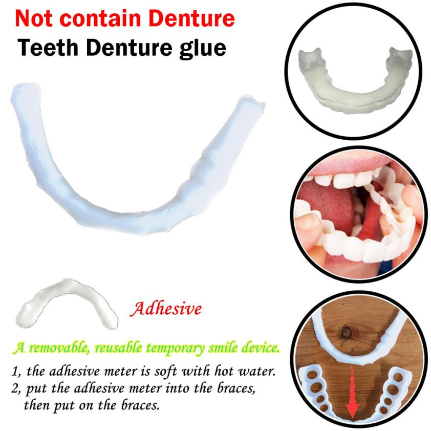 1pc Temporary Smile Comfort Fit Cosmetic Teeth Denture Glue 8.7
