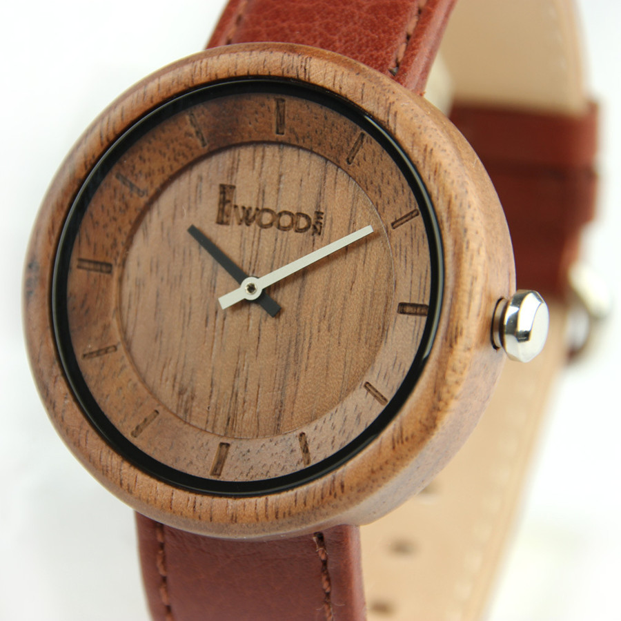 Vintage Men Wood Watches Quartz Timer Wooden Wristwatches for Women Men Blacksandal Wood Case Genuine Leather