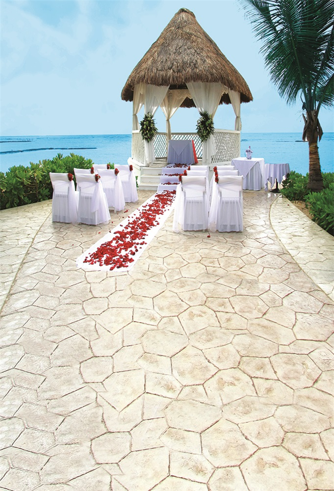 Laeacco Romantic Seaside Wedding Portrait Scene Photographic Backdrops Customized Photography Backgrounds For Photo Studio in Background from Consumer Electronics