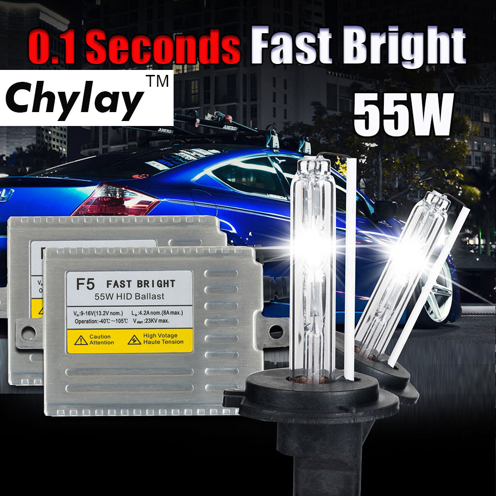 0.1 SECOND H7 XENON HID kit Fast start ballast 12v 55w F5 H1 H3 H4 H7 H11 9005 9006 881 D2S hid xenon lamp car headlight bulb h7 55w 12v xenon hid kit car headlight slim ballast xenon bulb