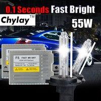 0.1 SECOND H7 XENON HID kit Fast start ballast 12v 55w F5 H1 H3 H4 H7 H11 9005 9006 881 D2S hid xenon lamp car headlight bulb