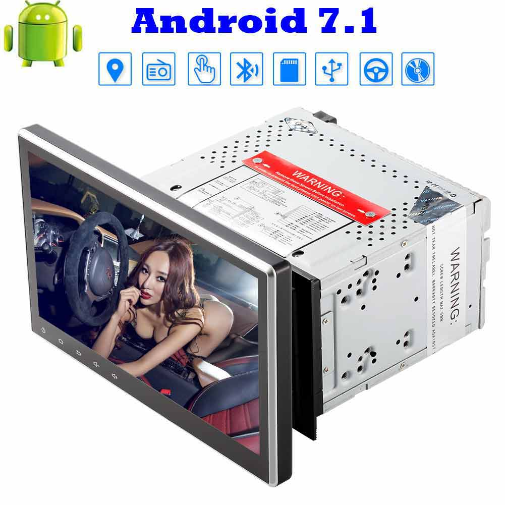 Octa-core Android 7.1 2G RAM Car Stereo 10.1 Capacitive Touchscreen Double Din Car DVD Player Car Radio with Bluetooth Wifi