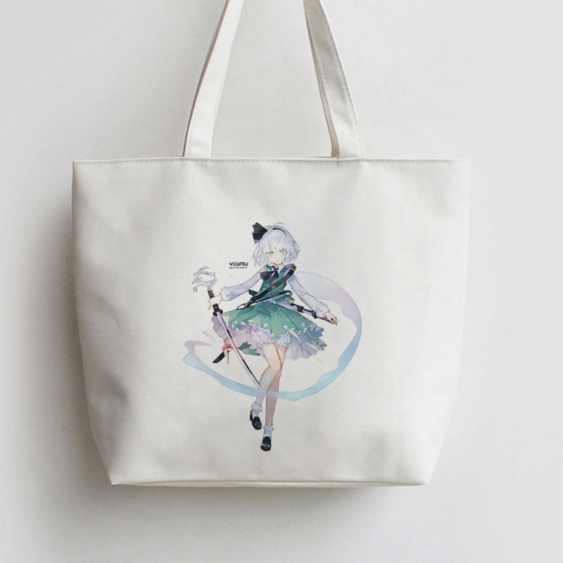 Youmu Konpaku TouHou Project Japanese Anime Shopping bag Handbag Canvas bag Cartoon Cute Gift school bag Tote bags AN062