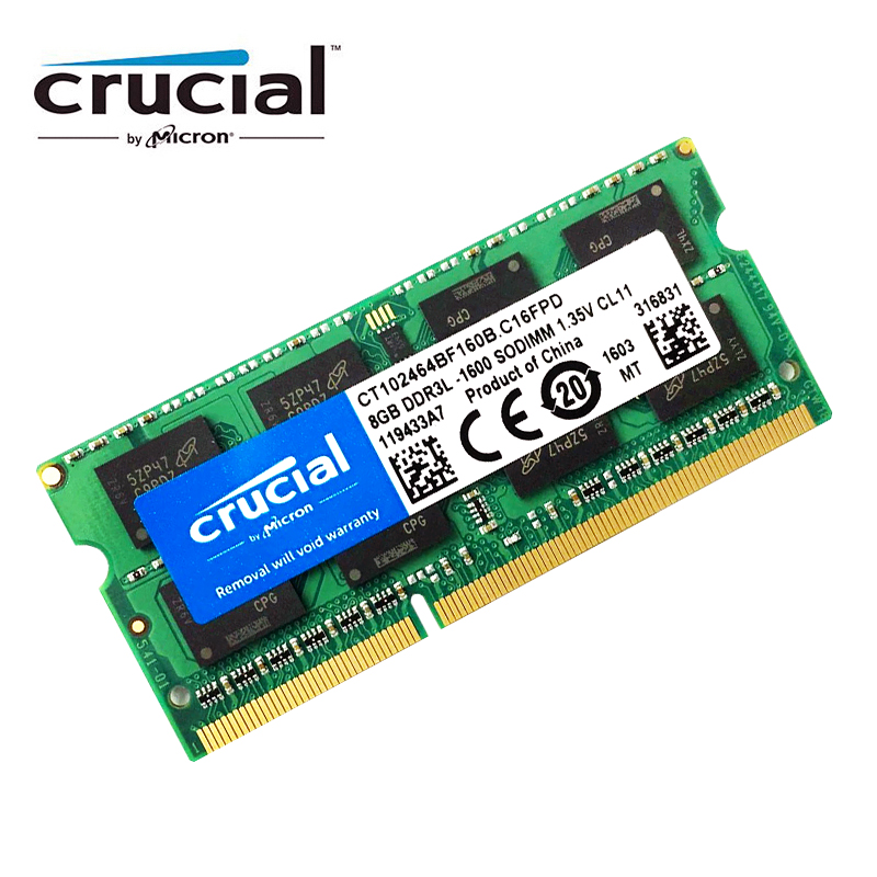 DIMM Laptop Memory Crucial-Ram 4gb 1333mhz 12800S Ddr3 Ddr3l 1066mhz 8GB 8-Gb for 1600