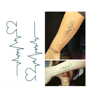 ECG temporary tattoo Men and women love tattoos  sexy products waterproof disposable tattoo stickers to cover the scar